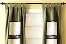 Декор штор: прозрачные квадраты