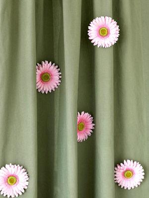 Декор штор: цветочная поляна