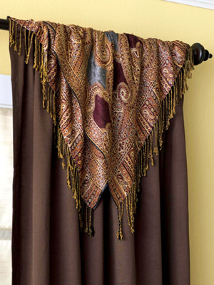 Шторы своими руками: Декорирование платком