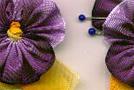 Анютины глазки: цветы из ленты своими руками