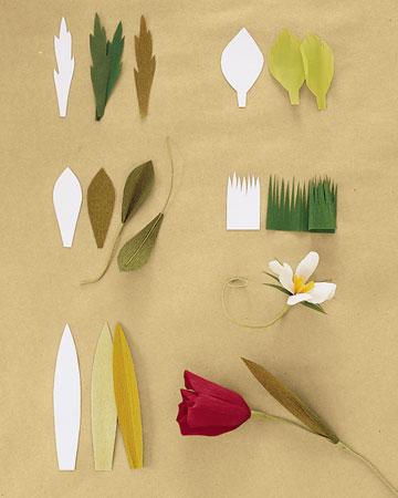 Как сделать листки для цветов 70