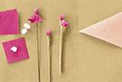 Цветы из гофрированной бумаги: делаем тычинки