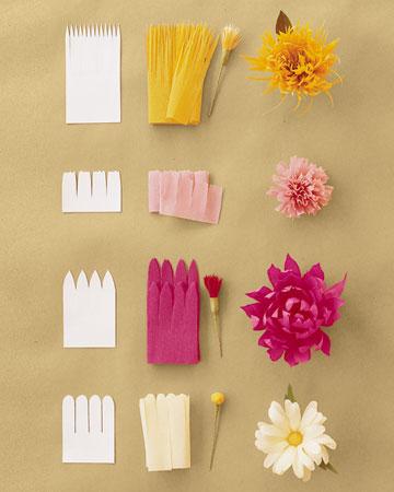 Бумажные цветы из бумаги своими руками мастер