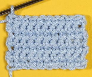 Вязание крючком: ряд из полустолбиков без накида