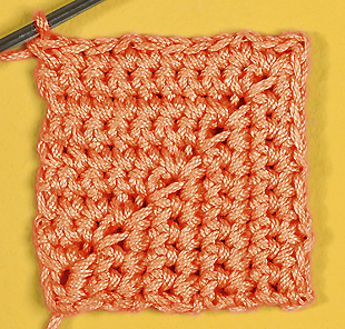 Вязание крючком: фигурные детали, связанные столбиками без накида