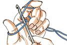 Вязание крючком: начальная и воздушная петля, цепочка из воздушных петель