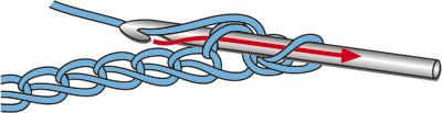 Вязание крючком: соединительный столбик