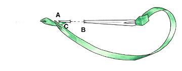 Вышиваем лентами: Стебельчатый стежок