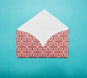 Конверт сердце из бумаги своими руками