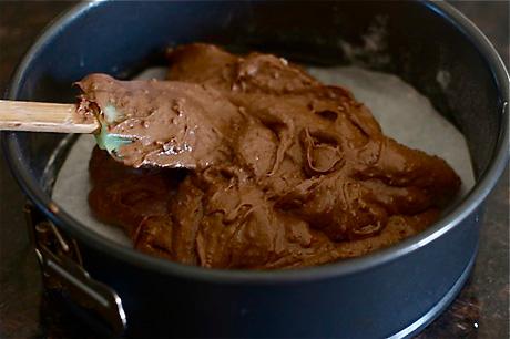 Шоколадно-грушевый кекс