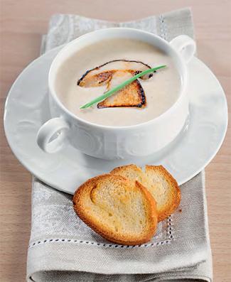 Крем-суп из белых грибов, вешенок и шампиньонов