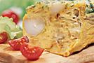 Фриттата (омлет) с молодым картофелем и сыром