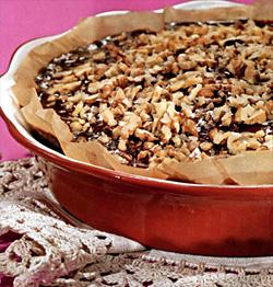 Пирог со сгущенным молоком и грецкими орехами