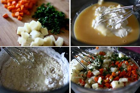 Пикантная картофельно-морковная «буханка»