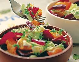 Салат со свеклой и апельсинами