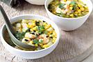 Суп из кукурузы с креветками