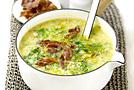 Суп из картофеля и савойской капусты с беконом + Рагу с курятиной