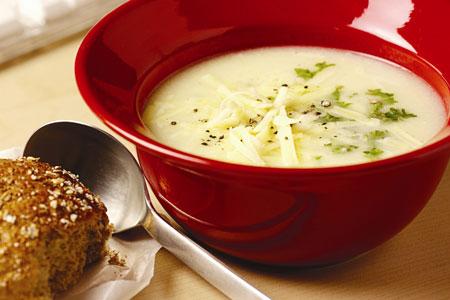 Coliflor con queso de sopa
