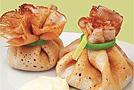 Блинчики с грибами и сырным соусом