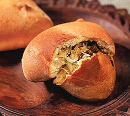 Пирожки с квашеной капустой и грибами