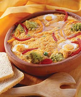 Запеканка из яиц с овощами
