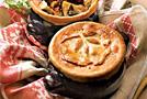 Тушеное мясо с грибами по-славянски в горшочках