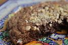 Шоколадный омлет с орехами