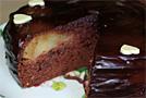 Пирог «Груши в шоколадном бисквите»