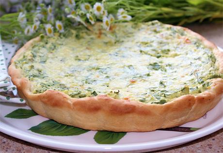 Пирог с зеленью и рикоттой