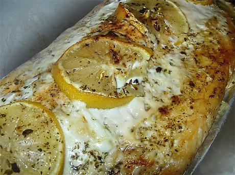 Лосось, запечённый с лимоном