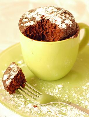 Шоколадный Бисквит (в кружке для микроволновки)