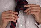 Как завязать галстук: Четверной (простой) узел (Four-in-hand)