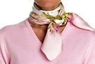 Способы завязывания платка: французский узел